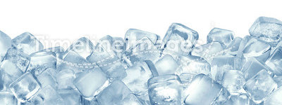 Ice cubes. Pattern on white background