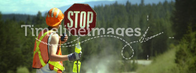 Stop road construction