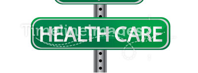 Health care green illustration sign