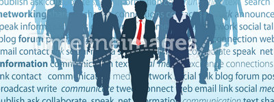 Business social media network people concepts