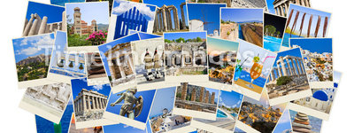 Stack of Greece travel photos
