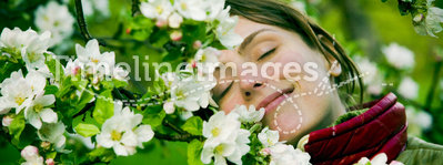 Woman in Spring
