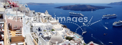 View of fira town. santorini. greece