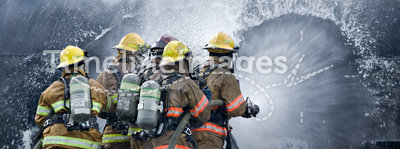 Drenched Firefighters