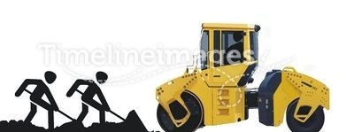 asphalt roller machine