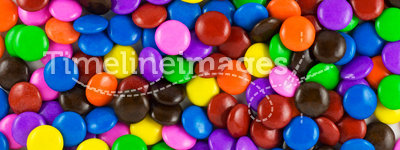 Candy. Many colourful halloween candy filling background