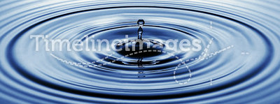 Water drip. Ping or water ripples in a pond. waves of rippling water