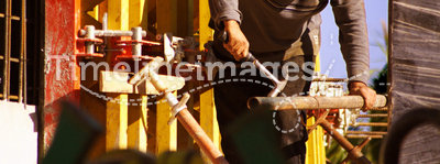 Construction worker formwork