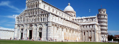 Pisa 1. Pisa - famous tower and cathedral. Romanesque style