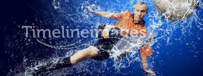 Football under water