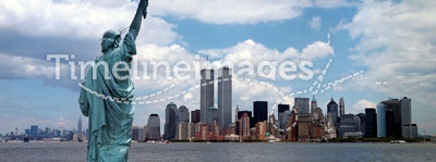 New York Harbor Twin Towers