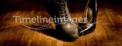Footwear dance: love