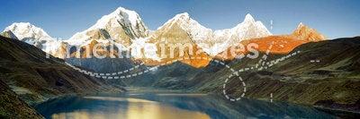 Peru Mountain Sunrise Panorama