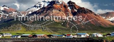 East fjords in Iceland. Borgarfjörður eystri is a small fishing village on east of Iceland