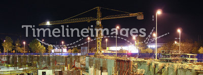 Night construction works