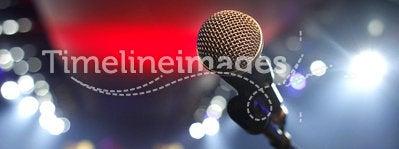 Microphone in a disco