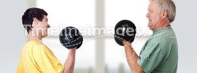 Doing fitness