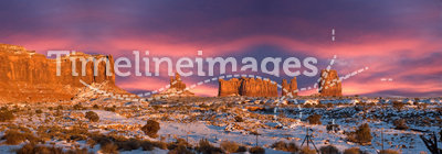 Monument Valley Navajo Indian Park Panorama Sunset