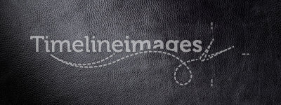 Black leather background. Abstract background of textured black leather