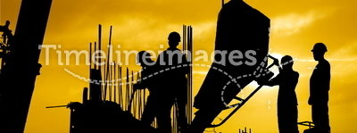 Construction sunset