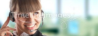 Beautiful Customer Representat