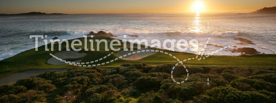 Pebble beach golf links, calif