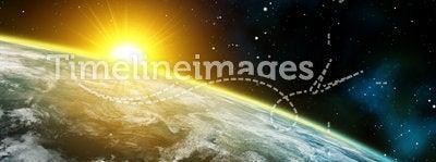 Space panorama