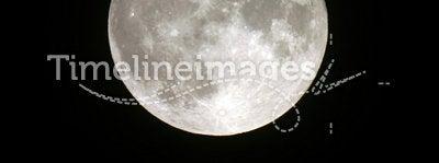 Full moon. Telescopic view of a full moon