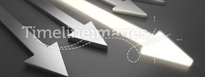 3D light arrow. Competition concept