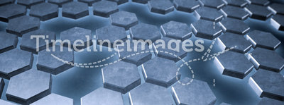 Hexagonal metallic plates