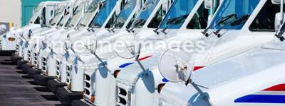 United States Postal Service delivery trucks