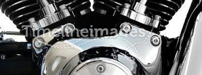 Motorcycle engine chrome