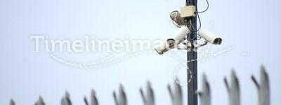 CCTV security cameras & fence