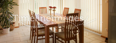 Dining room. Elegant and simple dining room
