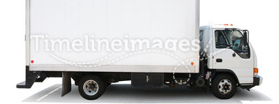 Delivery truck isolated white
