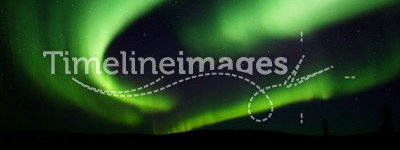 Northern Lights swirling in the sky