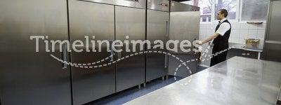 Waiter and fridges