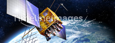 GPS Satellite. The Global Positioning System (GPS) is a satellite-based navigation system made up of a network of 24 satellites placed into orbit by the U.S