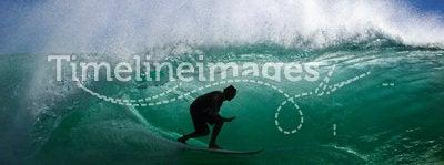 Surf. Er passing overhead inside the barrel