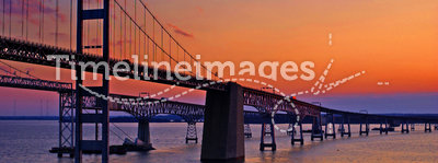 Chesapeake Bay Bridge at Dawn