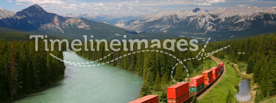 Train moving in Moutains