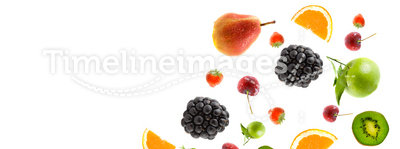 Berry and fruit falling