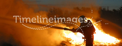 Lone firefighter