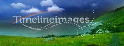 Rainbow & sea