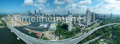 Singapore Skyline & Freeway