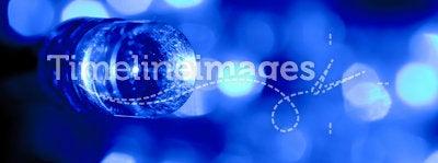 Electric blue LED light