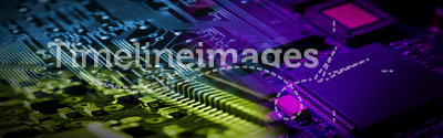 Electronics Banner. Electronics Circuit Board - good for Banner and Website Design