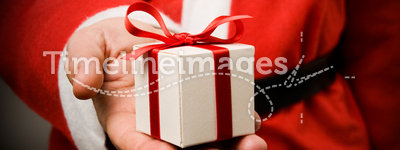 Santa Claus with gift
