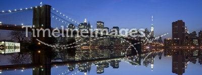 New York and Brooklyn Bridge