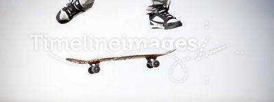 Skater making an olli